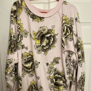 FREE PEOPLE slouchy sweatshirt in floral print